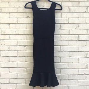 Fab'rik black trumpet style dress